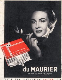 Du Maurier 1950s UK cigarettes smoking glamour
