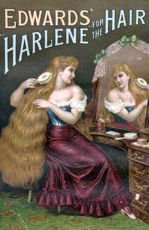 Edwards Harlene for Hair 1890s UK hair products womens