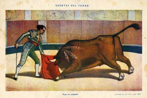 El Ruedo 1882 1880s Spain cc bull fights fighting matadores matadors dangerous bulls