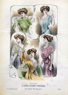 1900s/french fashion 1908 1900s spain cc womens