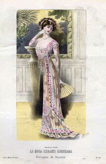 1900s/french fashion 1909 1900s spain cc womens dresses