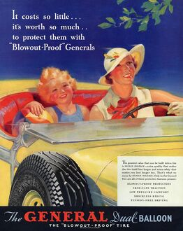 General 1930s USA tyres women woman drivers driving