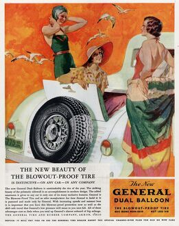 General 1933 1930s USA tyres womens swimwear bathing costumes
