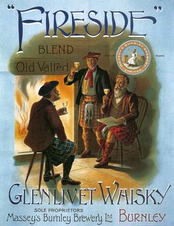 Glenlivet 1904 1900s UK whisky alcohol whiskey advert Scotch Scottish fireplaces