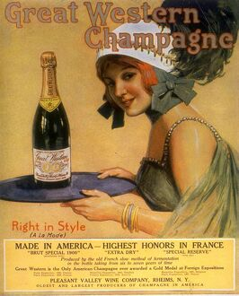 Great Western Champagne 1920s USA alcohol