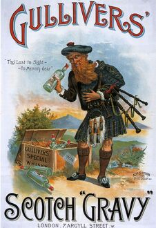 GulliverA•s 1899 1890s UK whisky alcohol whiskey advert Gullivers Scotch Scottish