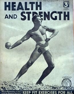 Health and Strength 1938 1930s UK body building fitness exercise gay magazines builders