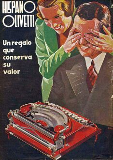 Hispano Olivetti 1935 1930s Spain cc typewriters presents gifts humour surprise