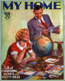 My Home 1934 1930s USA magazines planning holidays globes brochure honeymoons tourism