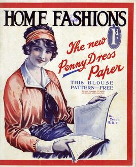 Home Fashion 1920s UK womens first issue portraits magazines