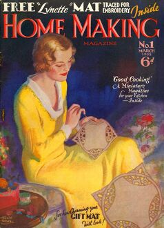 Home Making 1932 1930s UK housewives housewife sewing first issue magazines