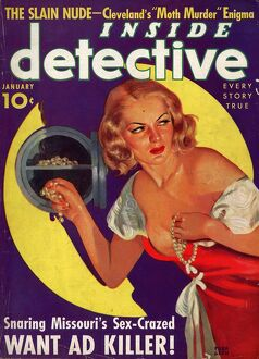 Inside Detectives 1930s USA pulp fiction magazines