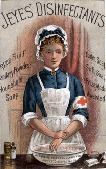 Jeyes 1890s UK nurses disinfectant medical medicine
