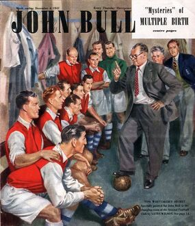 John Bull 1947 1940s UK Arsenal football team changing rooms magazines managers