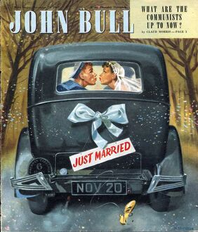 John Bull 1947 1940s UK love brides weddings just married marriages magazines