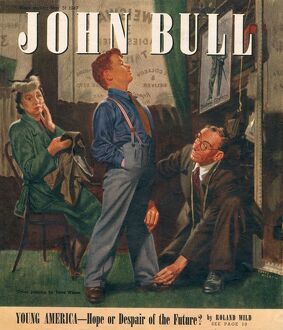 John Bull 1947 1940s UK mothers sons tailors tailoring shopping magazines clothing