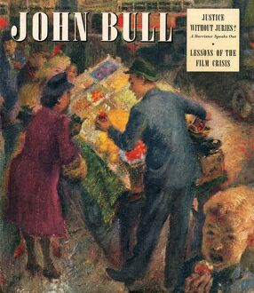 John Bull 1948 1940s UK markets shopping grocers magazines family greengrocers