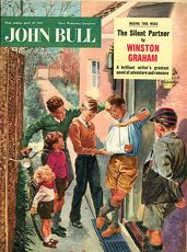 John Bull 1950s UK broken arms disasters accidents magazines
