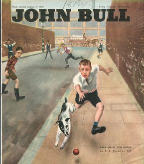 John Bull 1950s UK cricket dogs disasters balls magazines pets