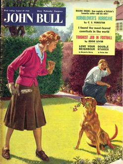 John Bull 1950s UK dogs disasters magazines pets horticulture