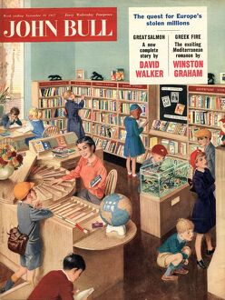 John Bull 1950s UK libraries books reading magazines library