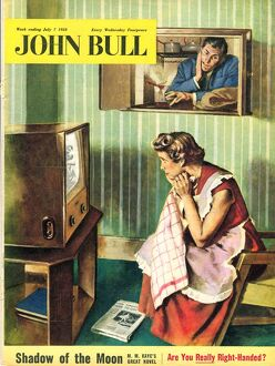 John Bull 1950s UK people watching televisions magazines