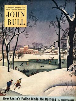 John Bull 1952 1950s UK winter snow ice cold the countryside magazines