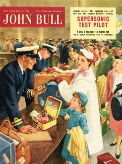 John Bull 1955 1950s UK holidays mothers and daughters travel customs smuggling magazines