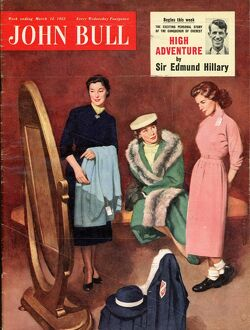 John Bull 1955 1950s UK shopping trying on clothes mothers and daughters sales assistants