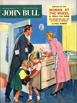 John Bull 1957 1950s UK cooking housewives housewife kitchens woman women in kitchen
