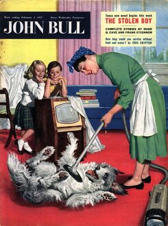 John Bull 1957 1950s UK dogs cleaning housewives housewife vacuum cleaners products
