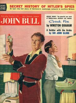John Bull 1957 1950s UK fathers sons bathrooms magazines family