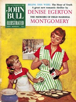 John Bull 1958 1950s UK cooking mothers and daughters baking mince pies housewife