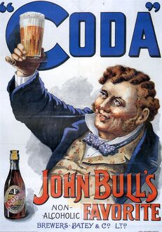 John BullA•s 1895 1890s UK john Bulls Coda beer non-alcoholic advert temperance movement