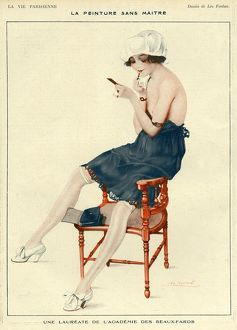 La Vie Parisienne 1918 1910s France Leo Fontan illustrations erotica make-up makeup