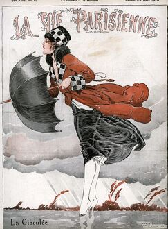 La Vie Parisienne 1918 1910s France Rene Vincent illustrations magazines winds windy