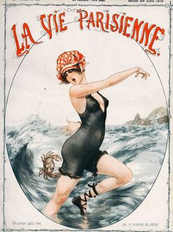 La Vie Parisienne 1919 1910s France Cheri Herouard magazines seaside holidays womens