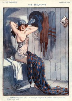 La Vie Parisienne 1919 1920s France Georges Pavis illustrations erotica underarm