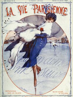 La Vie Parisienne 1920 1920s France Leo Pontan magazines illustrations ice-skating