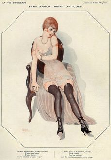 La Vie Parisienne 1920s France Gerda Wegener Without Love Nothing Matters stockings