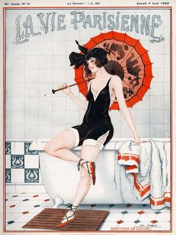 La vie Parisienne 1923 1920s France Leo Fontan magazines illustrations womens swimming