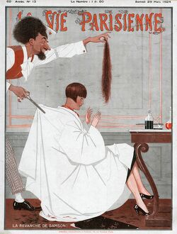 La Vie Parisienne 1924 1920s France magazines haircuts salons barbers hairdressers