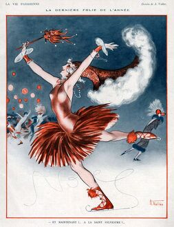 La Vie Parisienne 1924 1920s France A Vallee illustrations ice-skating ice skating