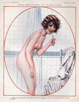 La Vie Parisienne 1925 1920s France cc erotica showers nudes naked nudity