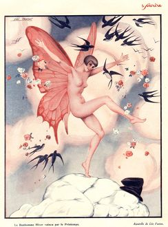 1920s/le sourire 1920s france erotica swallows butterflies