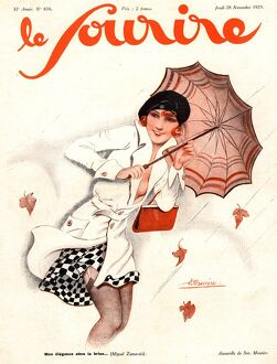 Le Sourire 1929 1920s France seasons autumn windy winds womens magazines