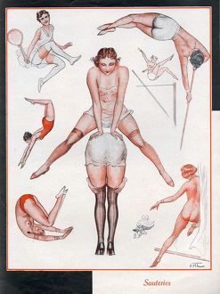 1930s/le sourire 1930s france erotica fit exercise aerobics