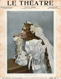 Le Theatre 1899 1890s France magazines womens portraits praying weddings brides dresses