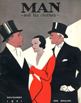 Man and his clothes 1931 1930s UK mens magazines clothing clothes