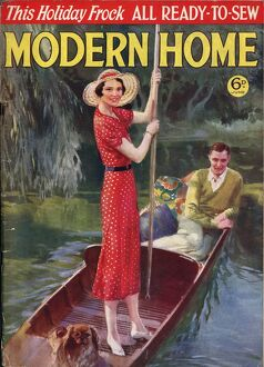 Modern Home 1930s UK punting boats on the rivers magazines